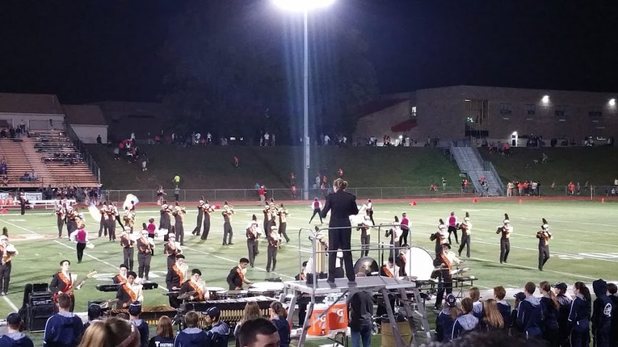 The+Cherokee+marching+band+under+the+Friday+night+lights
