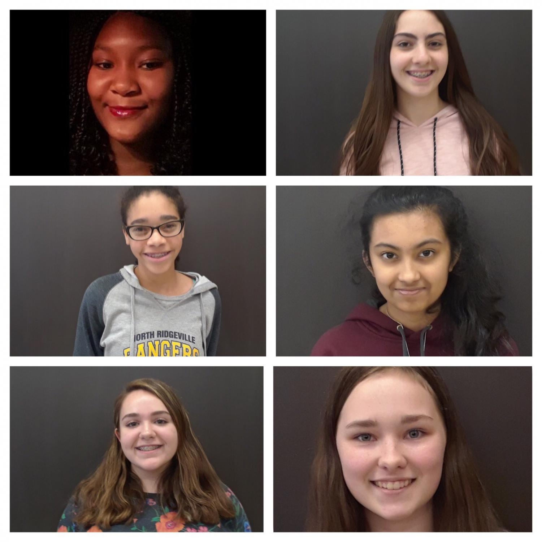 Kayla Johnson, Jacklyn Guiliano, Yasmeen Matthews, Nisa Gaharwar, Caitie Woodcock, and Cheyenne Hamilton