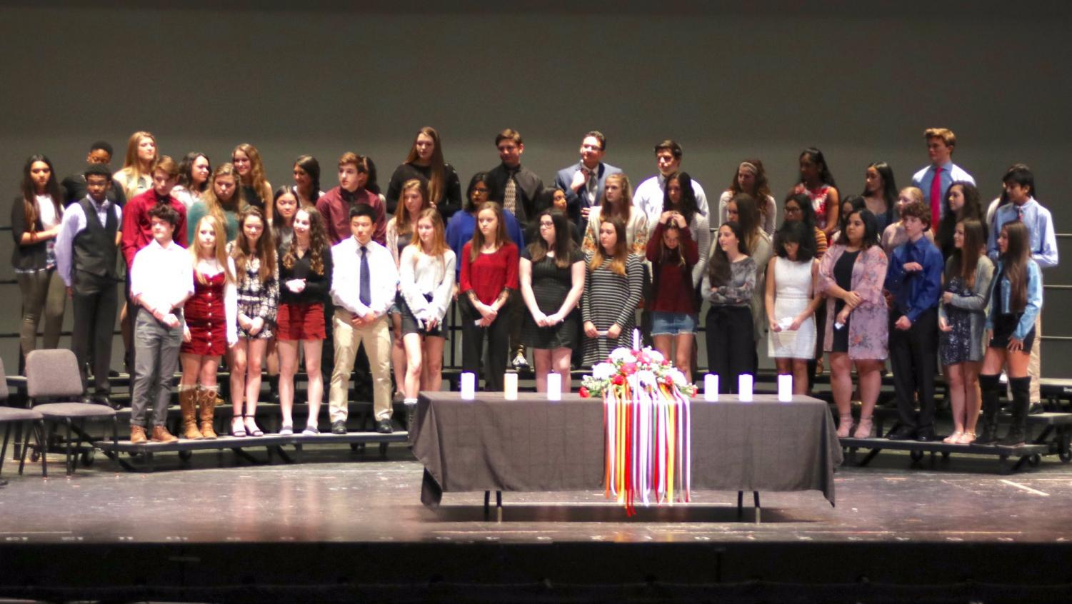 The New Members of Cherokee's Spanish Honor Society