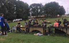 Marching Band Students Preparing Their Program for the 2018-2019 Season