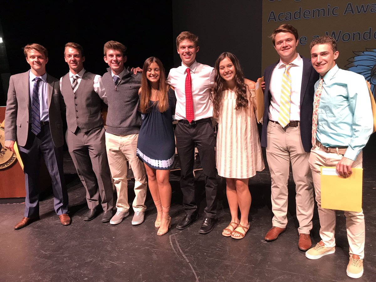 Members of the Class of 2019 at the 2019 Academic Awards
