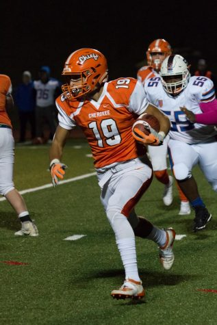 Cherokee Football Gets Tickled Pink
