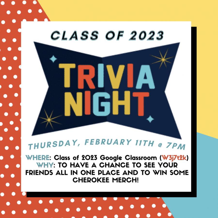 Class of 2023 Trivia Night