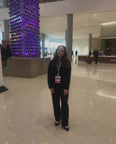 Jenna Dever at the San Antonio Convention Center for the FBLA Nationals.